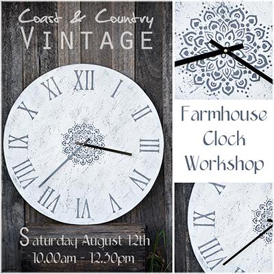Farmhouse Clock workshop Melbourne