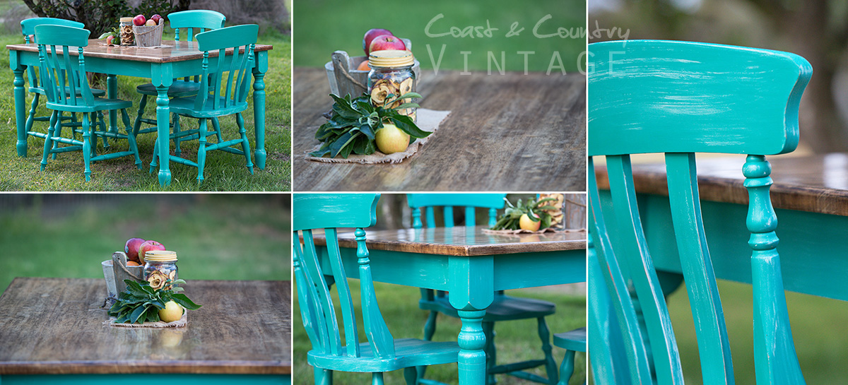 Spray Painting with Chalk Paint