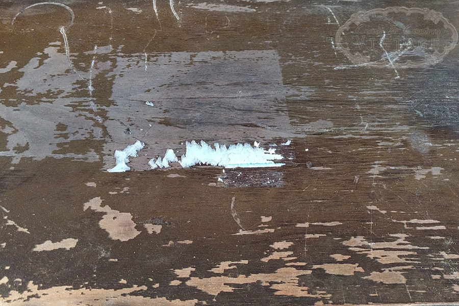 Removing old veneer